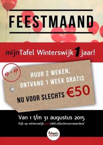 Feestmaand mijnTafel Winterswijk 1 jaar